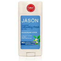 JASON Naturally Unscented Deodorant Stick for Men 71g