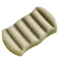 Konjac 6 Wave Body Sponge Green French Clay