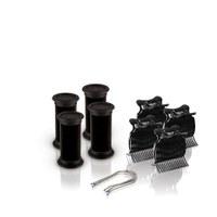 Diva Session Instant Heat 25mm Wickler, Clips & Pins 4er Pack