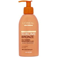 L'Oreal Paris Sublime Bronze Self Tanning Smooth Milk Fluid (150ml)