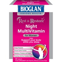 Bioglan Rest and Restore Night Multi Vitamins for Women (30 Capsules)
