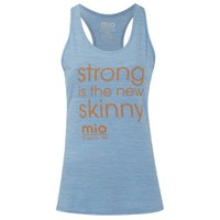 Mio Skincare Women's Performance Slogan Vest - Light Blue