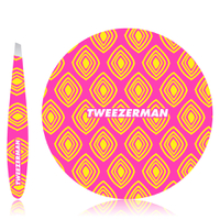 Tweezerman Moroccan Oasis Mirror and Mini Tweezer Duo