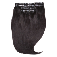 """Beauty Works Jen Atkin Invisi-Clip-In Hair Extensions 18"""" - Natural Black 1A"""
