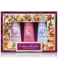CRABTREE & EVELYN FLORALS HAND THERAPY SAMPLER 3X25G