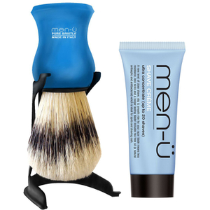 men-ü Barbiere Shaving Brush and Stand - Blue