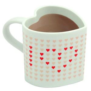 Herzförmige Tasse - Wärme farbverändernd