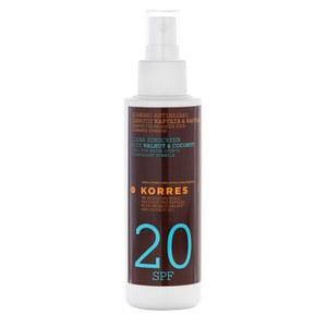 Korres Walnut and Coconut Clear Sunscreen Spray SPF20 (150ml)