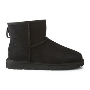 UGG Australia Women's Classic Mini Sheepskin Boots - Black