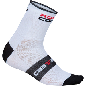 Castelli Rosso Corsa 9 Cycling Socks - White
