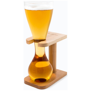 Quarter Yard Glass with Wooden Stand and Gift Box