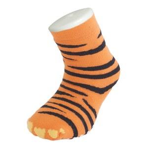 Silly Socks Kids' Slipper Socks - Thick Tiger Feet UK 1-4