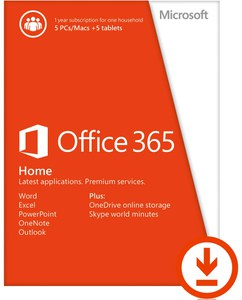 Microsoft Office 365, Home Premium, Lizenz, 5 PCs/ Macs, 1 Jahresabonnement (PC/Mac)