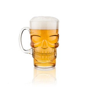 Final Touch Skull Beer Glass