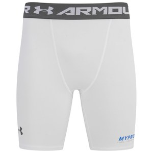 Under Armour Men's HeatGear Armour Compression Shorts - White