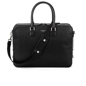 Aspinal of London Men's Small Mount Street Shoulder Bag - Black