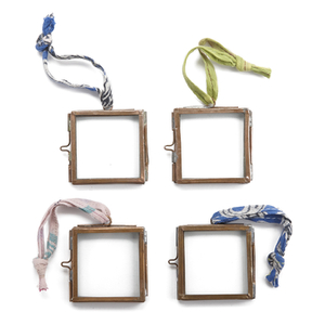 Nkuku Tiny Kiko Frame - Antique Copper - Set of 4 - 8x7x8cm