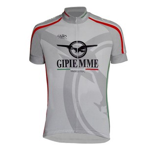 Pella Gipiemme Short Sleeve Cycling Jersey - Grey
