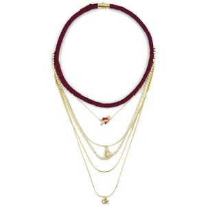 Venessa Arizaga Women's I Love You OK Necklace - Burgundy
