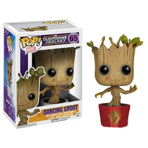 Marvel Guardians of the Galaxy Ravagers Logo Dancing Groot Pop! Vinyl Figure - EE Exclusive