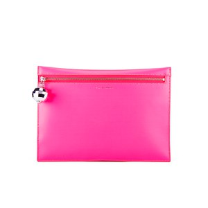Lulu Guinness Women's Naomi Clutch Bag - Bag Neon Pink