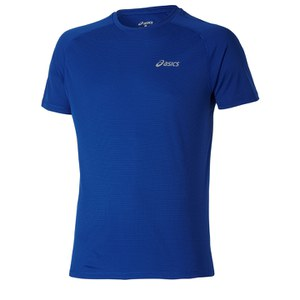 Asics Men's Shorts Sleeve Running T-Shirt - Air Force Blue