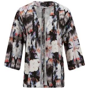 VILA Women's Sari Printed Kimono - Black