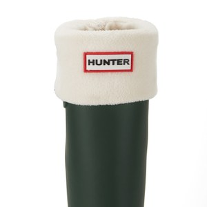 Hunter Unisex Tall Fleece Welly Socks - Cream