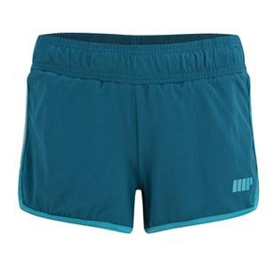 Damskie spodnie do biegania Myprotein z podszewką - kolor zielononiebieski
