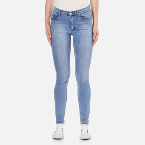 Cheap Monday Women's 'Second Skin' High Waisted Skinny Jeans - Stonewash Blue