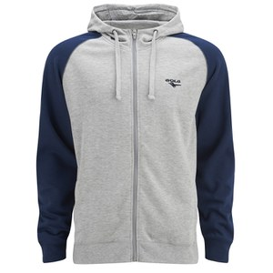 Gola Men's Eden Full Zip Hoody - Grey Marl/Dark Navy