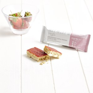 Deliciously Different Box of 16 Strawberry Jam and Yogurt Crunch Bars