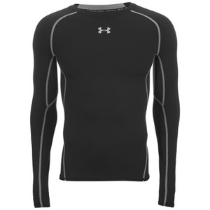 Under Armour Men's Armour HeatGear Long Sleeve Compression Top - Black/Steel