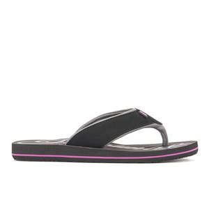 Animal Women's Swish Logo Flip Flops - Black