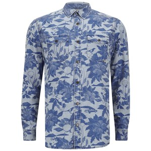 WeSC Men's Maccoy Denim Shirt - Suburban Tropic