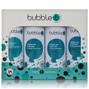 Bubble T Bath and Body Body T-ssentials in Moroccan Mint Tea (4x100ml)
