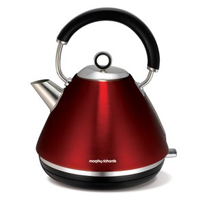 Morphy Richards 102004 Accents Traditional Kettle - Red - 1.5L