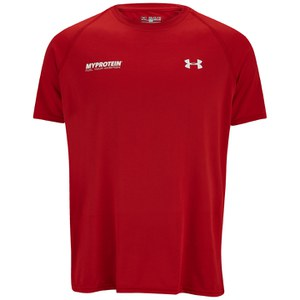 Under Armour® Tech™ T-Shirt Herrar-  Röd/Vit