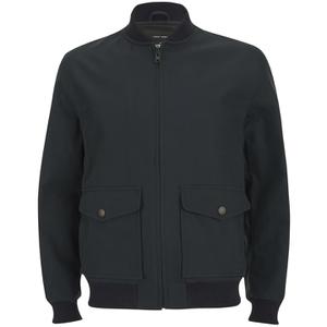 Knutsford Men's 'Made in England' Cotton Zip-Through Bomber Jacket - Navy