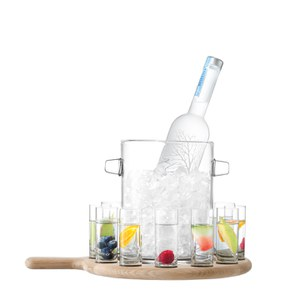 LSA Vodka Serving Set and Oak Paddle (L38.5cm)