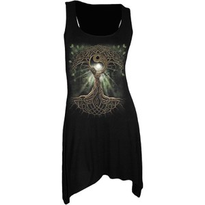 Spiral Women's OAK QUEEN Goth Bottom Camisole Dress - Black