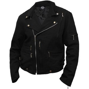 Spiral Men's METAL STREETWEAR Lined Biker Jacket - Black