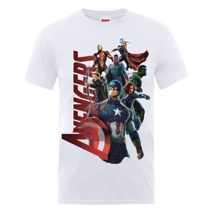 Marvel Avengers Men's Age of Ultron Team Avengers Men's T-Shirt - White