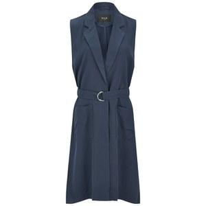 VILA Women's Ultimate Waistcoat - Black Iris