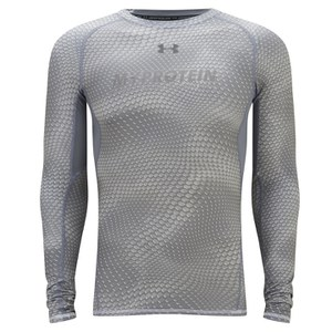 Under Armour Men's HeatGear® Armour Printed Long Sleeve Compression Shirt - White