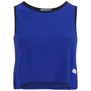 Γυναικεία Κοντή Αμάνικη Μπλούζα Myprotein, Μπλε