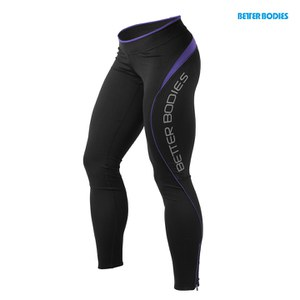 Better Bodies Fitness Long Tights - Black/Purple