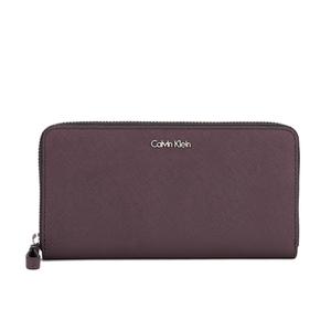 Calvin Klein Sofie Large Leather Purse - Claret