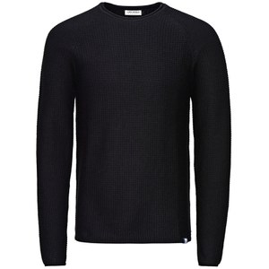Jack & Jones Men's Originals Paul Knitted Crew Neck Jumper - Black