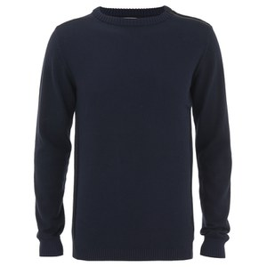 Jack & Jones Men's Core Bryan Crew Neck Jumper - Navy Blazer